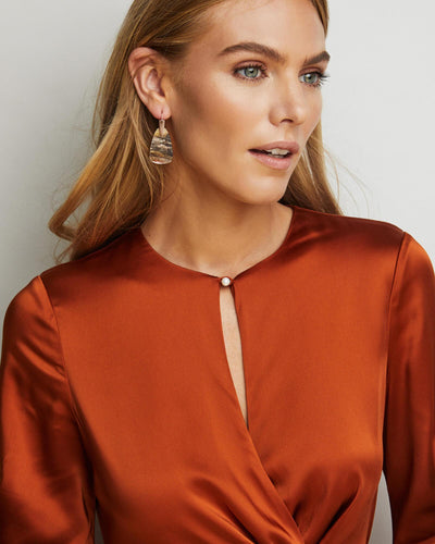 Kendra Scott Marty Yellow Gold Plated Abalone Shell Wire Drop Earrings