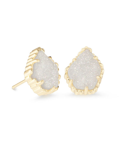 EARRINGS - Kendra Scott Tessa Iridescent Drusy Gold Stud Earrings