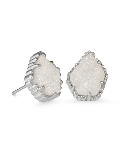 EARRINGS - Kendra Scott Tessa Iridescent Drusy Silver Stud Earrings