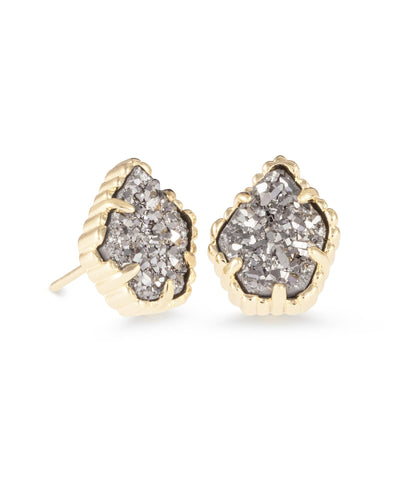 EARRINGS - Kendra Scott Tessa Platinum Drusy Gold Stud Earrings