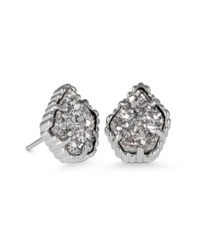 EARRINGS - Kendra Scott Tessa Platinum Drusy Silver Stud Earrings