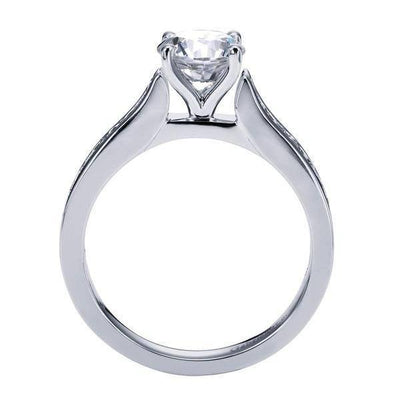 ENGAGEMENT - 1.14cttw Classic Channel Set Round Diamond Engagement Ring