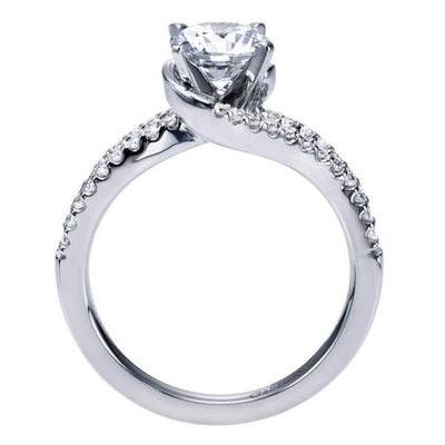ENGAGEMENT - 1.30cttw Split Shank Bypass Style Diamond Engagement Ring