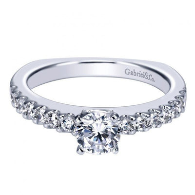 ENGAGEMENT - 1.35cttw Common Prong Round Diamond Engagement Ring