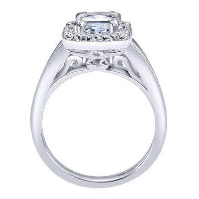 ENGAGEMENT - 1.50cttw Cushion Cut Halo Style Diamond Engagement Ring With 1ct Cushion Center Diamond