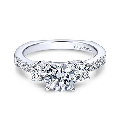 ENGAGEMENT - 1.55cttw 3-Stone Plus Diamond Engagement Ring