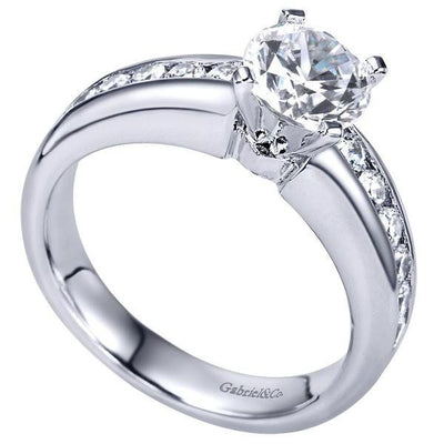 ENGAGEMENT - 1.55cttw Round Channel Set Diamond Engagement Ring