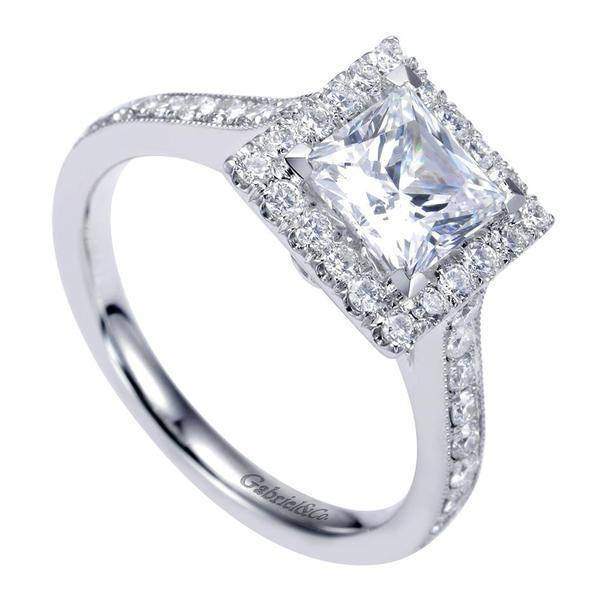 1 75cttw princess cut halo engagement ring with