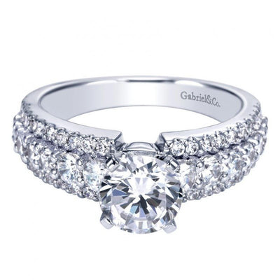 ENGAGEMENT - 1.90cttw Triple Row Common Prong Diamond Engagement Ring