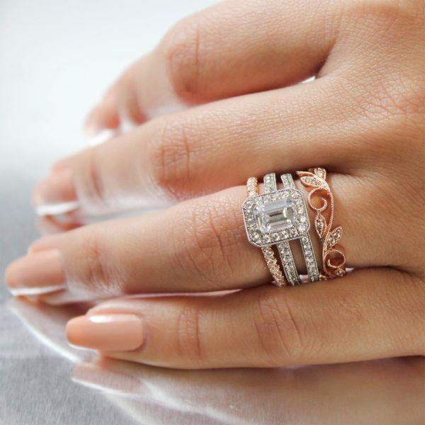 1 50cttw Emerald Cut Halo Diamond Engagement Ring Mullen Brothers