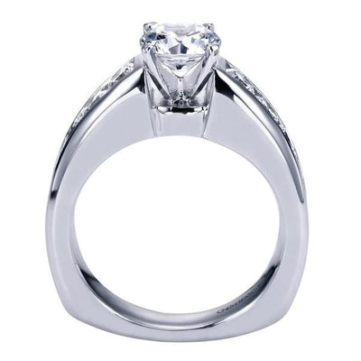 ENGAGEMENT - 2.05cttw Graduated Channel Set Round Diamond Engagement Ring