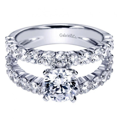 ENGAGEMENT - 2.65cttw Common Prong Set Split Shank Style Engagement Ring