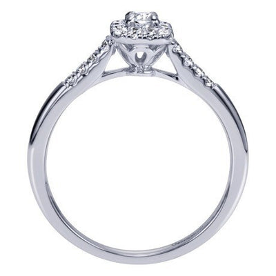 ENGAGEMENT - .28cttw Halo Diamond Engagement Ring