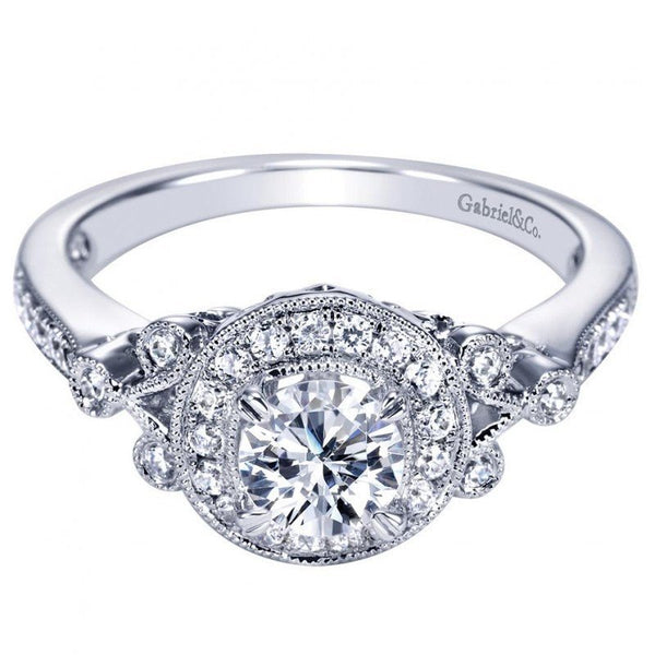 78ctw Vintage Style Round Halo Diamond Engagement Ring Mullen Jewelers
