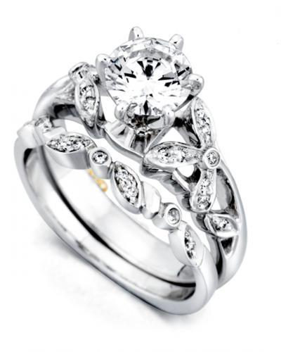 Mark Schneider Adore Floral Diamond Engagement Ring