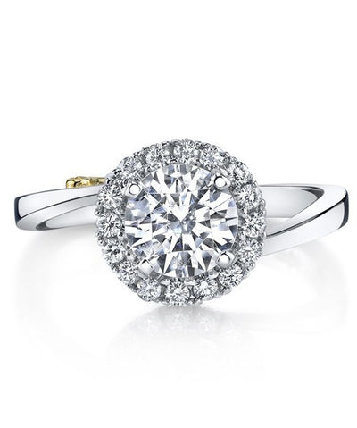 ENGAGEMENT - Mark Schneider Angelic 1.21cttw Bypass Halo Style Diamond Engagement Ring
