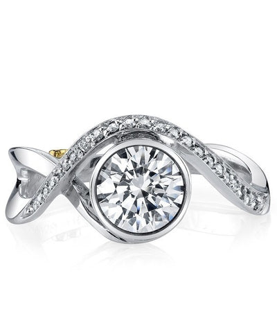 ENGAGEMENT - Mark Schneider Aurora 1.10cttw Bezel Set Round Diamond Engagement Ring