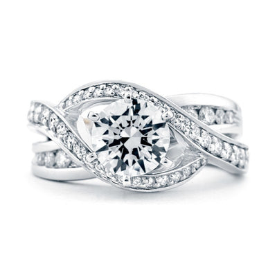 ENGAGEMENT - Mark Schneider Bedazzle 1.67cttw Freeform Diamond Engagement Ring