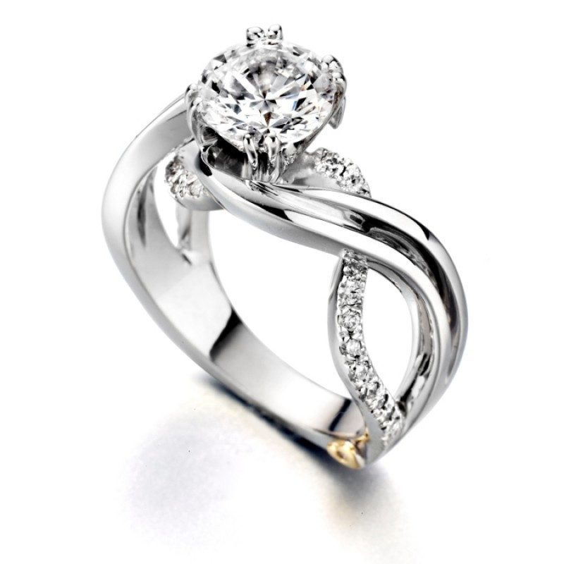 engagement mark schneider enchantment 125cttw freeform round diamond engagement ring - Vintage Wedding Rings For Sale