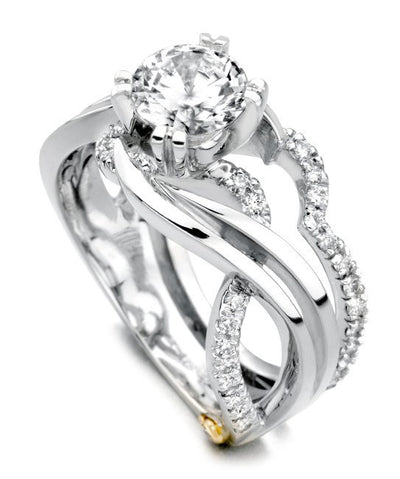 ENGAGEMENT - Mark Schneider Enchantment 1.25cttw Freeform Round Diamond Engagement Ring