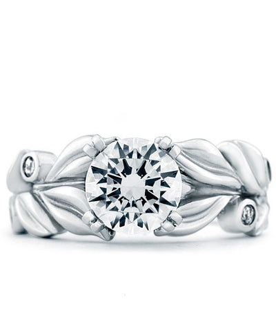 ENGAGEMENT - Mark Schneider Flora 1.07cttw Diamond Engagement Ring With A Decorative Floral Shank