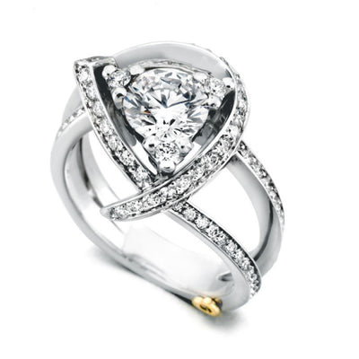 ENGAGEMENT - Mark Schneider Luxury Freeform Diamond Engagement Ring