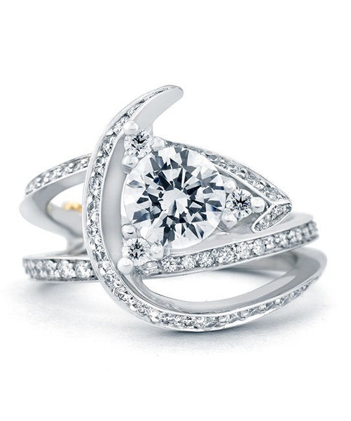 Mark Schneider Luxury Freeform Diamond Engagement Ring