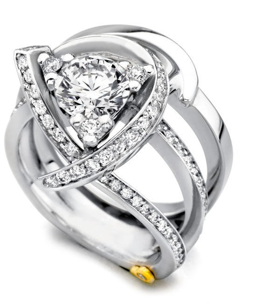 luxury wedding rings schneider luxury freeform engagement ring 5628