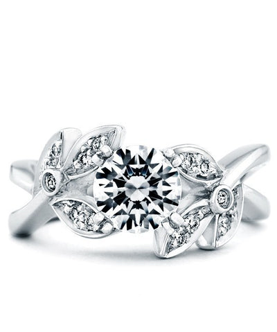 ENGAGEMENT - Mark Schneider Mystic 1.15cttw Floral Diamond Engagement Ring