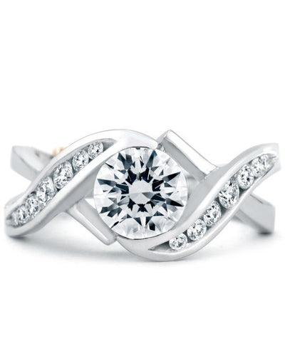 ENGAGEMENT - Mark Schneider Soulmate 1.31cttw Freeform Diamond Engagement Ring