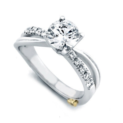 ENGAGEMENT - Mark Schneider Surge 1.20cttw Split Shank Diamond Engagement Ring