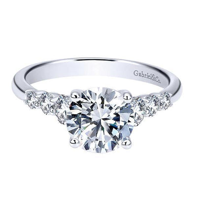 ENGAGEMENT - Platinum 1/2cttw 7-Stone Round Diamond Engagement Mounting