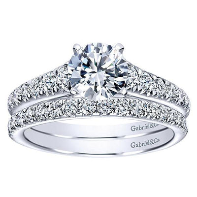 ENGAGEMENT - Platinum 1/2cttw Tapered Diamond Engagement Mounting