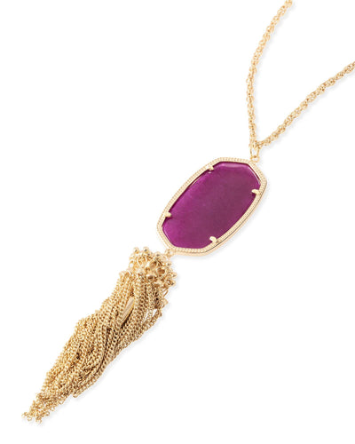 JEWELRY - Kendra Scott Rayne Purple Jade Gold Necklace