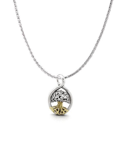NECKLACES - Celebration Tree Of Life Two Tone Pendant With Crystals