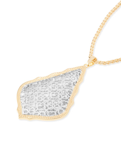 NECKLACES - Kendra Scott Aiden Silver And Yellow Gold Filigree Necklace