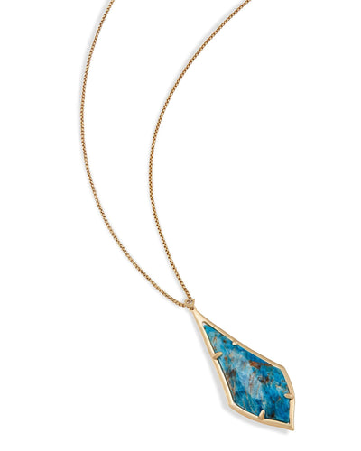 NECKLACES - Kendra Scott Damon Aqua Apatite Long Bolo Necklace