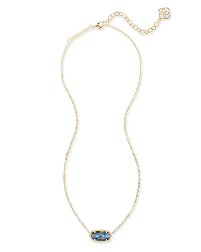 NECKLACES - Kendra Scott Elisa Abalone Shell Gold Necklace
