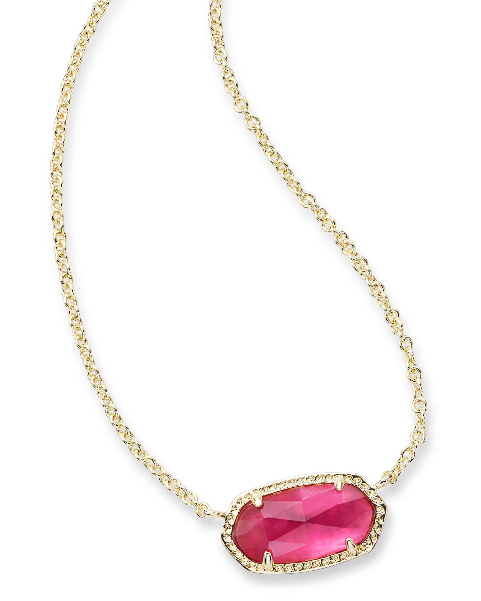 NWT Kendra Scott Yazmin in Berry illusion /& Gold Long Necklace New