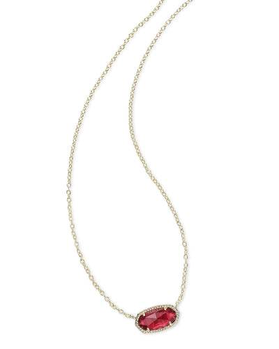 NECKLACES - Kendra Scott Elisa Clear Berry Gold Necklace