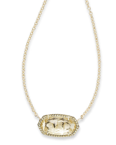 NECKLACES - Kendra Scott Elisa Clear Crystal Gold Necklace