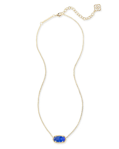 NECKLACES - Kendra Scott Elisa Cobalt Cat's Eye Gold Necklace