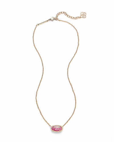 NECKLACES - Kendra Scott Elisa Fuchsia Kyocera Opal Gold Necklace