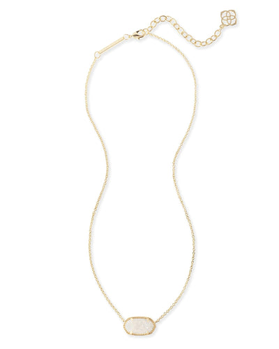 NECKLACES - Kendra Scott Elisa Iridescent Drusy Gold Necklace