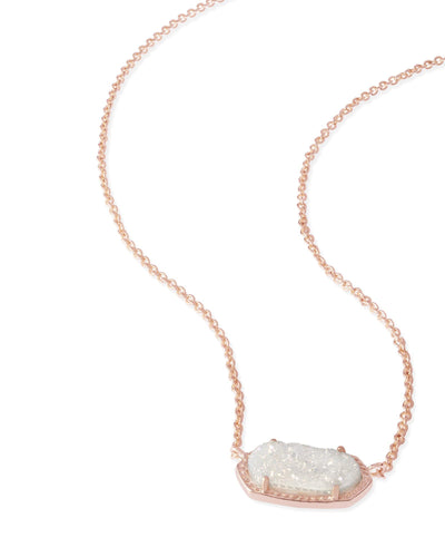 NECKLACES - Kendra Scott Elisa Iridescent Drusy Rose Gold Necklace