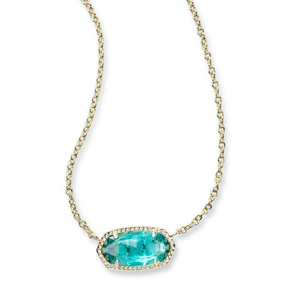 Kendra Scott Elisa London Blue Gold Necklace