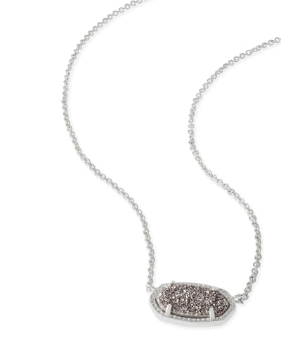 NECKLACES - Kendra Scott Elisa Platinum Drusy Silver Necklace