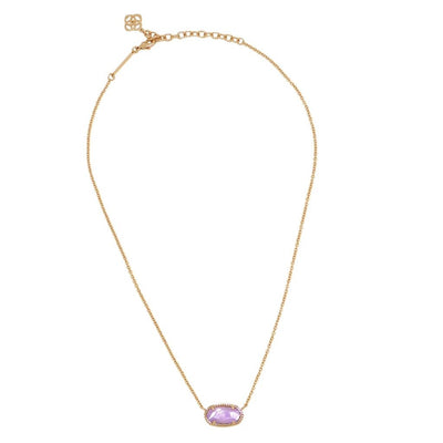 Kendra Scott Elisa Rose Gold Lilac Mother of Pearl Necklace