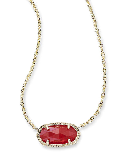 NECKLACES - Kendra Scott Elisa Ruby Red Gold Necklace