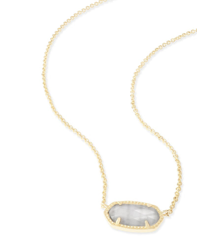 NECKLACES - Kendra Scott Elisa Slate Cat's Eye Gold Necklace